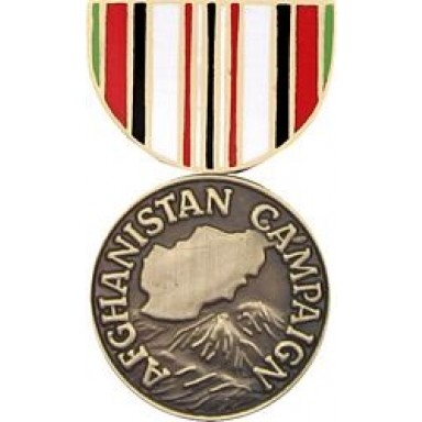 Afghanistan Campaign Miniature Medal Pin