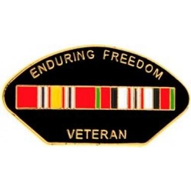 Enduring Freedom Veteran Small Hat Pin