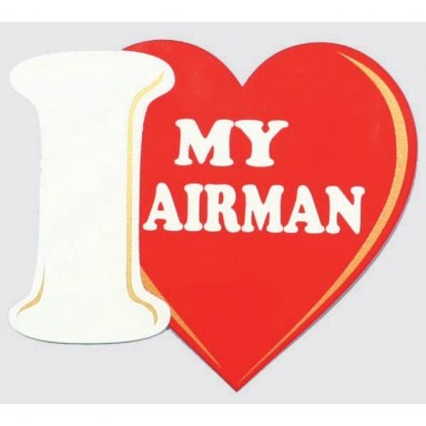 I Love My Airman Decal