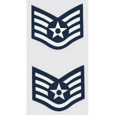 USAF E-5 Staff Sgt. 2 pc. Decal