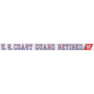 US Coast Guard Retired Decal