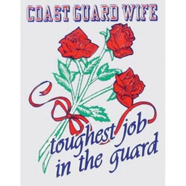 Coast Guard Wife Decal