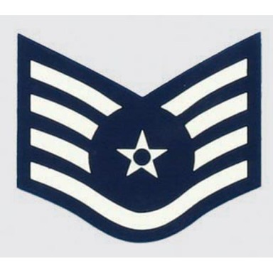 USAF E-5 Staff Sgt. Decal