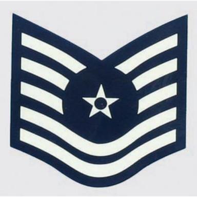USAF E-6 Tech Sgt. Decal