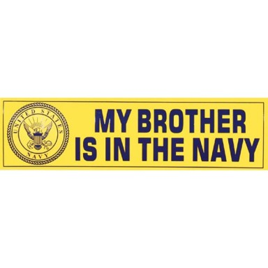 My Brother is in the Navy Decal