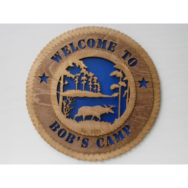 Welcome to Bob's Camp Plaque