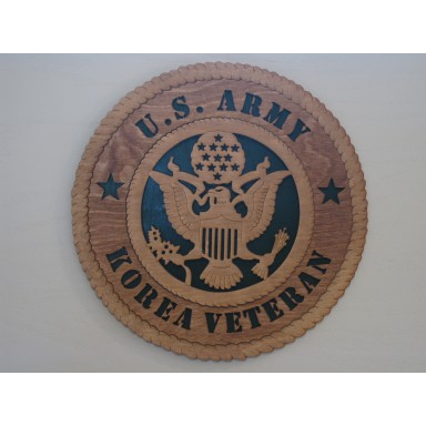 US Army Veteran Korea Plaque