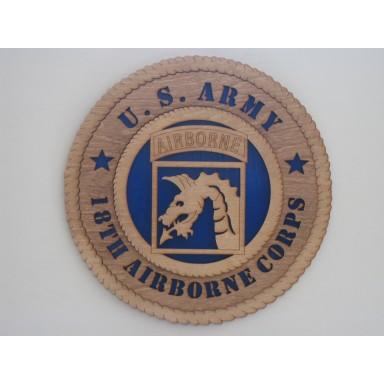 US Army 18th Airborne Plaque