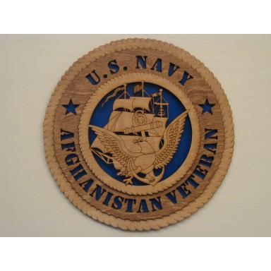 US Navy Veteran Afghanistan Plaque