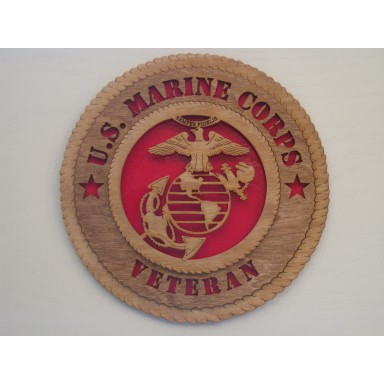 US Marine Corps Veteran Plaque