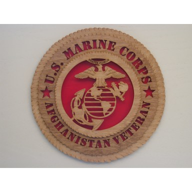 US Marine Corps Veteran Afghanistan Plaque