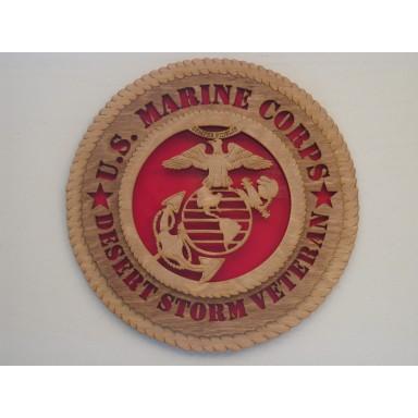 US Marine Corps Veteran Desert Storm Plaque