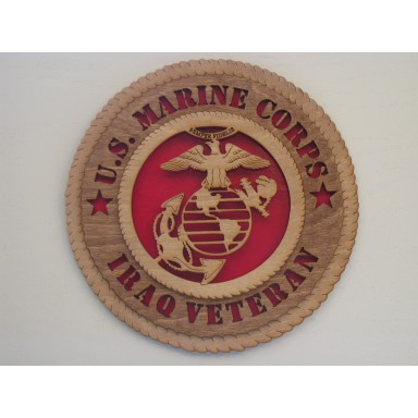 US Marine Corps Veteran Iraq Plaque