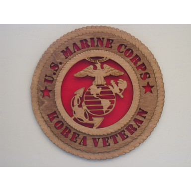 US Marine Corps Veteran Korea Plaque