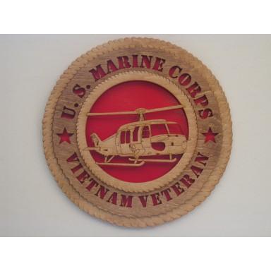 US Marine Corps Veteran Vietnam Huey Plaque