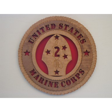 United States Marine Corps 2nd Division Plaque