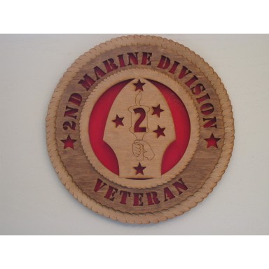 2nd Marine Division Veteran Plaque