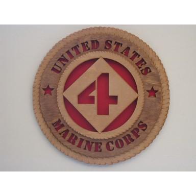 United States Marine Corps 4th Division Plaque