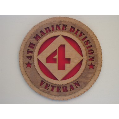 4th Marine Division Veteran Plaque
