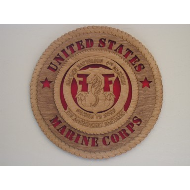 United States Marine Corps 2nd Bn 4th Marines Plaque