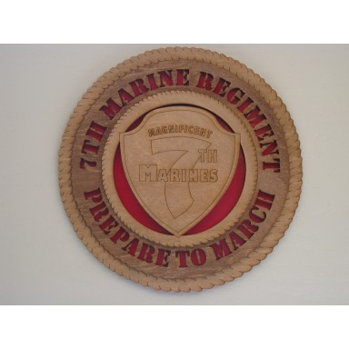7th Marines Plaque