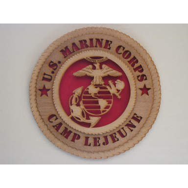 US Marine Corps Camp Lejeune Plaque