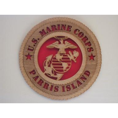US Marine Corps Paris Island Plaque