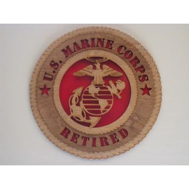 US Marine Corps Retired Plaque