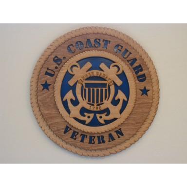 US Coast Guard Veteran Plaque