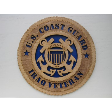 US Coast Guard Veteran Iraq Plaque