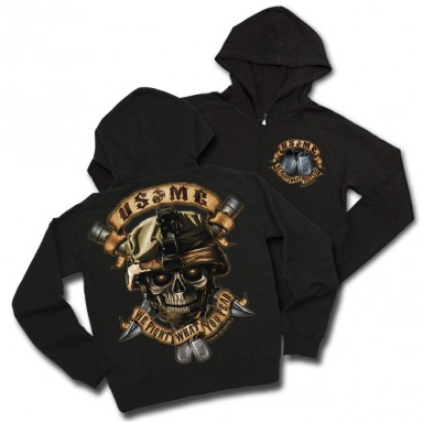 USMC We Fight What You Fear Hoodie
