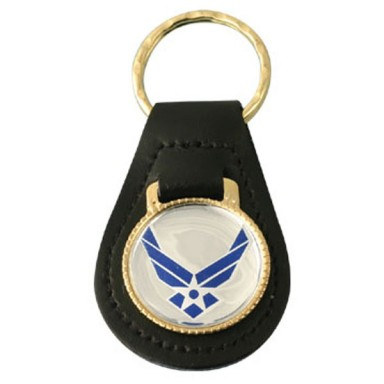 New Air Force Emblem Leather Key Fob