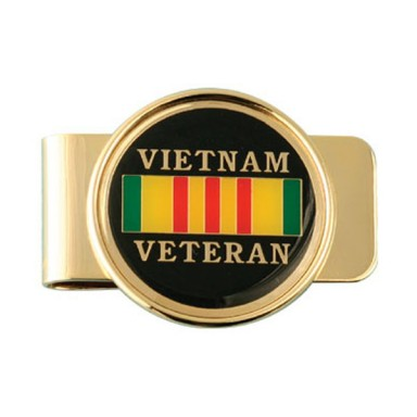 Vietnam Veteran Ribbon Money Clip