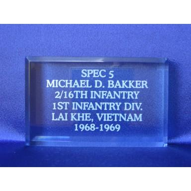 Custom Engraved Paperweight