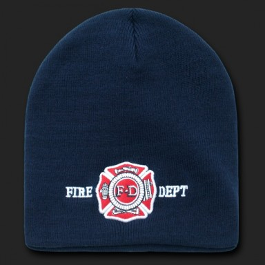 Fire Dept Beanie with Logo