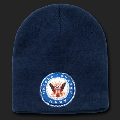 Navy Emblem Beanie
