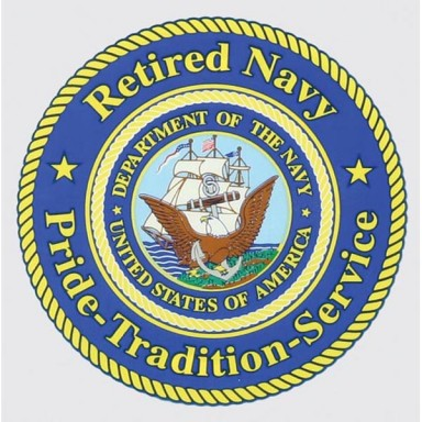 Navy Retired, Pride-Tradition-Service Decal