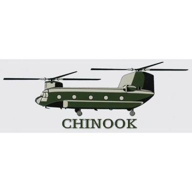 Chinook Helicopter Decal