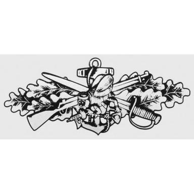 Seabee Combat Warfare Silver Decal