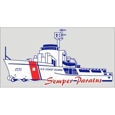 US Coast Guard Cutter Boat Decal