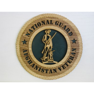 National Guard Veteran Afghanistan Plaque
