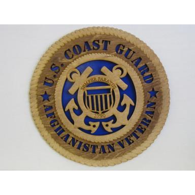 US Coast Guard Afghanistan Plaque