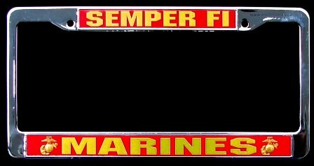 Marines Semper Fi License Plate Frame Mick S Military Shop