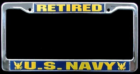 Us Navy Retired License Plate Frame Mick S Military Shop