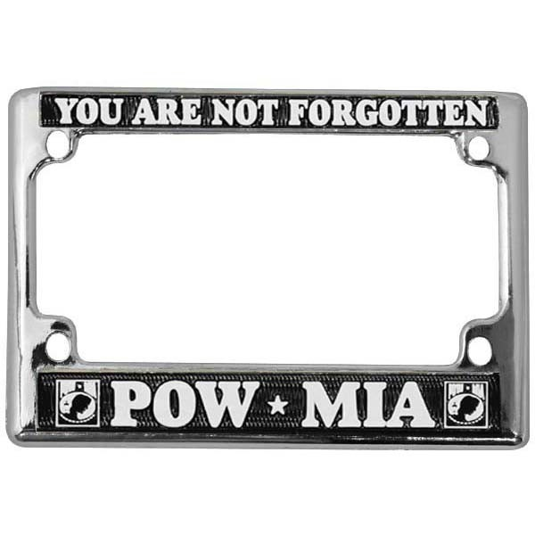 POW MIA Motorcycle License Plate Frame | Mick\'s Military Shop