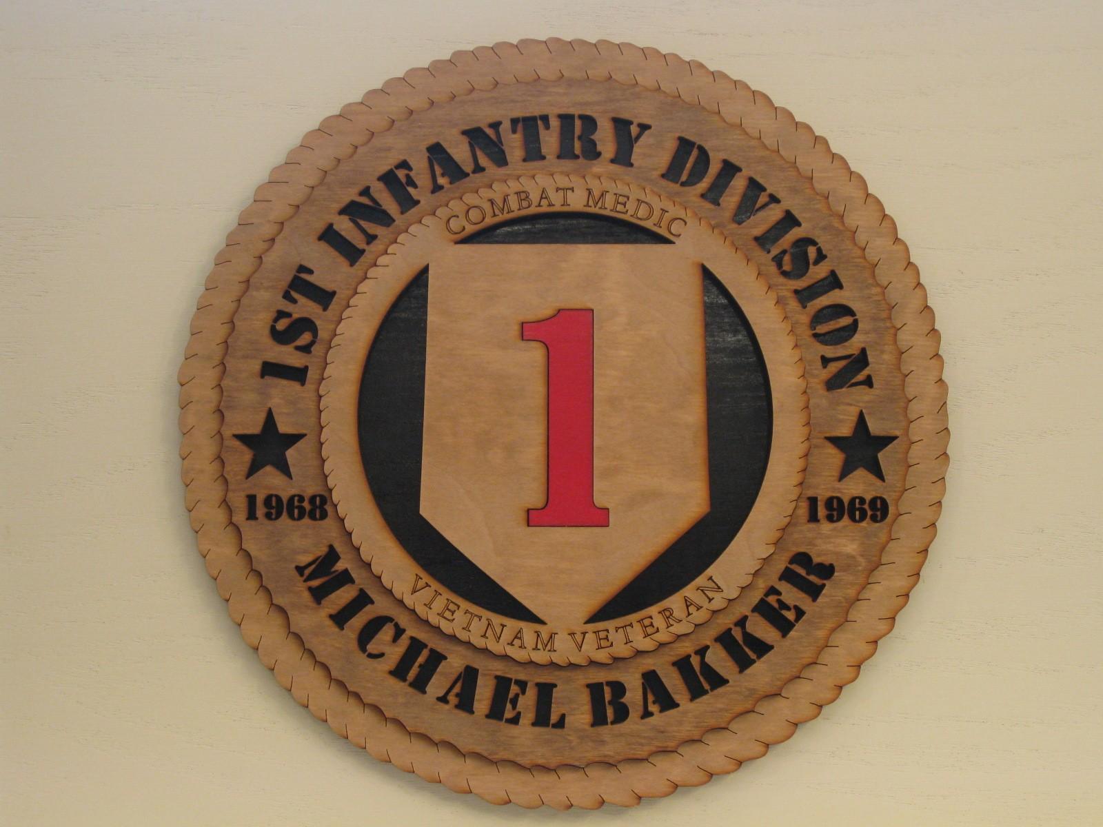 1st infantry division veteran combat medic vietnam micks 1st infantry division veteran combat medic vietnam custom plaque biocorpaavc Gallery
