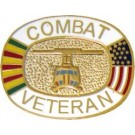 Combat Vet Small Hat Pin