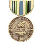 Armed Forces Service Miniature Medal Pin