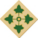 4th Infantry Div Small Hat Pin