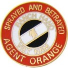 Agent Orange Small Hat Pin